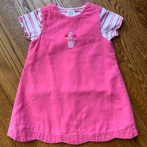 Gap Baby Pink Jumper Top 2 Piece Linen 12-18 Mo